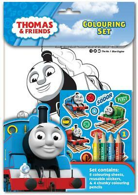 Thomas and Friends Colouring Set Kids Activity Stickers Christmas Gift
