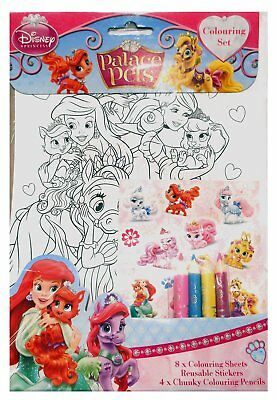 Disney Palace Pets Colouring Set Childrens Activity Stickers Stocking Xmas Gift