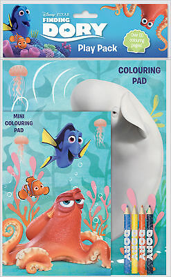 Disney Pixar's Finding Dory Play Pack Colouring Pads Pencils Activity Set Kids
