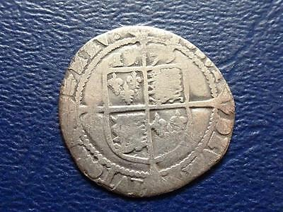 Great Britain  Elizabeth 1St Hammered Silver Sixpence 1573