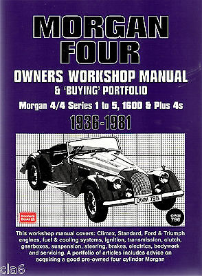 Morgan 4/4 and Plus 4 Owners Workshop Manual and Buying Portfolio 1936-1981 *NEW