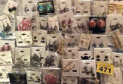 Job Lot (50)Fab New Jewellery Earrings Resale/Carboot/Gifts/Fetes/Xmas