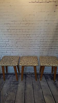 Vintage Mid Century G Plan Ercol Danish Retro Wooden Kitchen Breakfast Stools