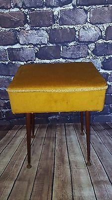 Vintage Retro Mid Century Sewing Storage Box on Legs Table G Plan 1960's 1970's