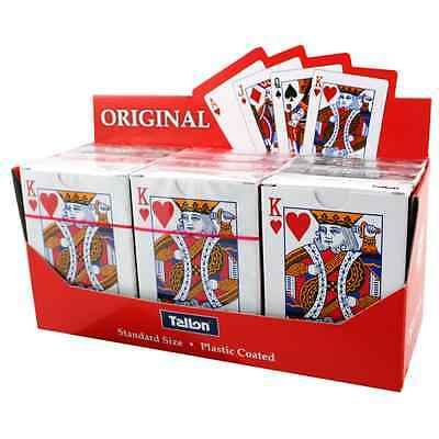 Tallon Games Plastic Coated Poker Playing Magic Cards Packs of 1, 2 and 12