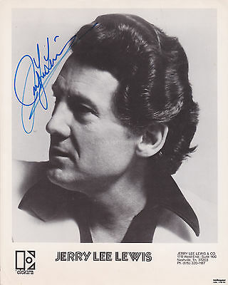 Jerry Lee Lewis HAND Signed 8x10 Photocard Autograph Great Balls of Fire