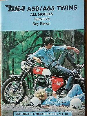BSA A50 A65 Twins motorcycle monographs No10  1962 to 1972 Spitfire Lightning