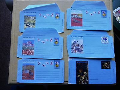 Australian Air Mail Envelope mint 1984 ALL WITH DIFFERENT PICTURES & pre paid 26