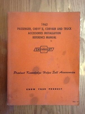 1962 Chevrolet Car and Truck Accessories Installation Manual