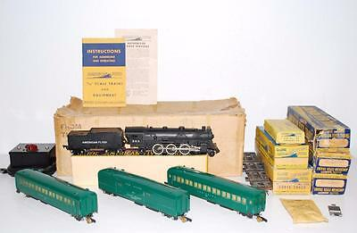 1951 American Flyer 5103WT Pacific Passenger Set BOXED Green New Haven cars 295
