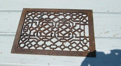 Antique Vintage Old Victorian Ornate Cast Iron Heating Wall Register Vent Grate