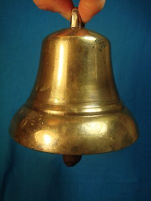 Old Russia Russian Brass Bell with Iron Clapper