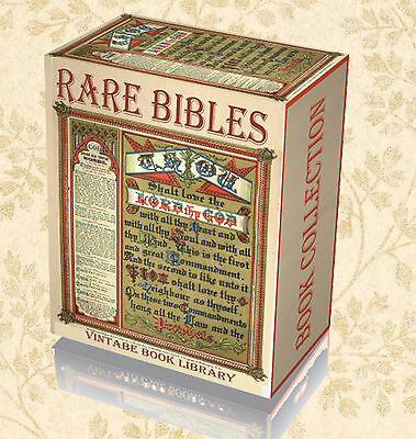 55 Rare Antique Ancient Bibles on 2 DVD Coverdale Geneva Douay Rheims Matthew 53