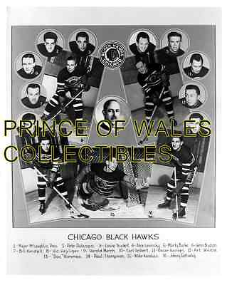 1938d CHICAGO BLACK HAWKS TEAM PHOTO 8X10