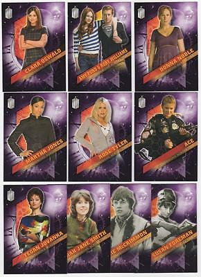 Topps DOCTOR WHO Timeless - Companions Across Time - 10 card - Chase Set