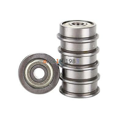 5PCS F624ZZ (4x13x5mm) Miniature Metal Shielded (Flanged) PRECISION Ball Bearing