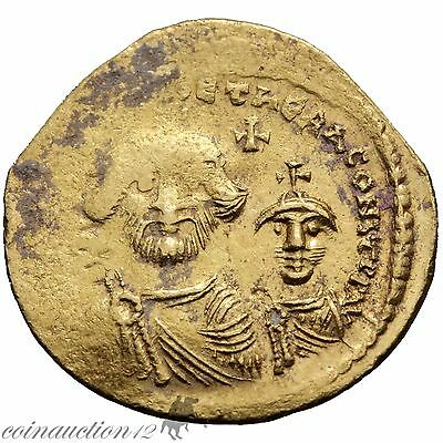 Byzantine Gold Solidus Coin Heraclius 610-641 Ad Constantinople