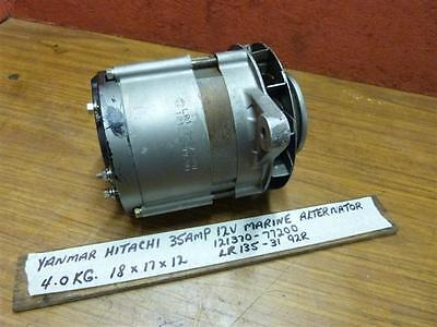 Yanmar 35AMP 12V Hitachi Marine Alternator 121370-77200 One & Two Cylinder