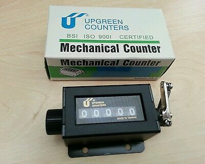 UPGREEN RS-5 * 5 Digit Number Tally Mechanical Arithmometer Manual Click Counter