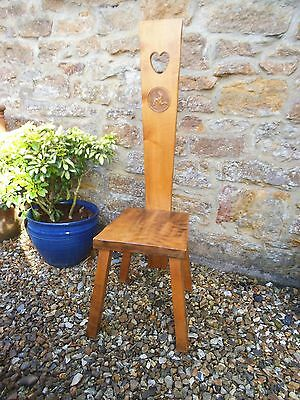 Spinners Chair Isle Of Man Made With 3 Leg Motif Heart Cut Out- Spinning