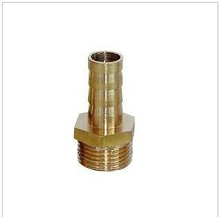 """Metric Thread M12X1.25 Male to Barb 3/8"""" 10mm Brass Air Fuel Gas Oil  Boat L-9V"""