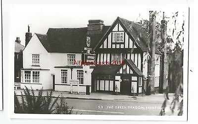 Essex The Green Dragon Shenfield Brentwood Real Photo Vintage Postcard