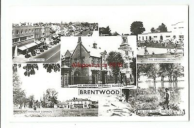 Essex Brentwood 3 Multiview Real Photo Vintage Postcards