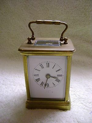 SMALL RICHARD & Cie  ANTIQUE  FRENCH TIMEPIECE CARRIAGE CLOCK c1900 WITH KEY