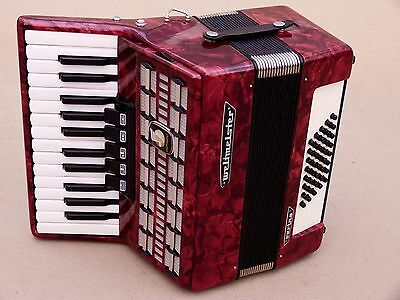 Excellent Accordion Weltmeister Serino 40 bass including case .
