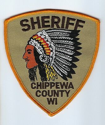 Chippewa County WI Wisconsin Sheriff Dept. patch - NEW! *INDIAN CHIEF*