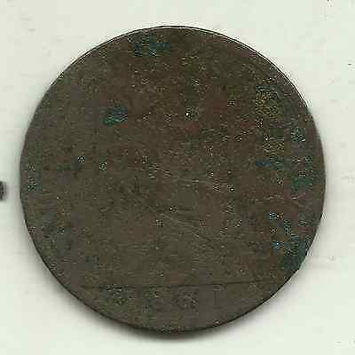 Great Britain, one halfpenny, 1861 (KM 748.2)