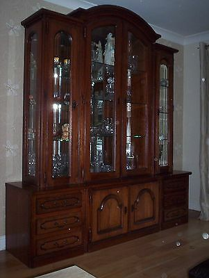 Large Solid Display Cabinet!!! Beautiful Statement Piece!!!