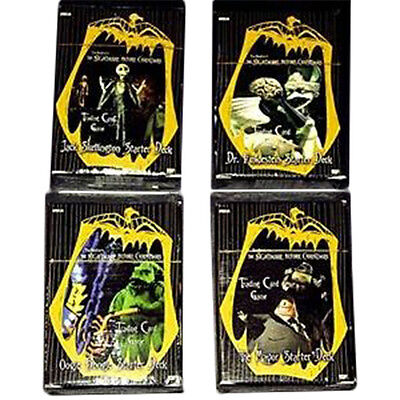 NIGHTMARE BEFORE CHRISTMAS - Trading Card Game Starter Deck Set (4) #NEW