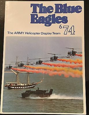 The Blue Eagles - The Army Helicopter Display Team 1974 - Programme