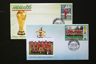 Grenadines Of St Vincent 1986 World Cup Covers