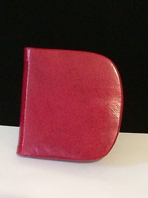 Red Handcrafted Sheepskin Leather Coin Purse Made In India