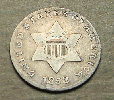 U.S. 1852 Silver 3 Cents