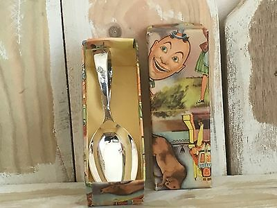 Vintage Boxed Child's Feeding Spoon, Christening Spoon.Silver Plated