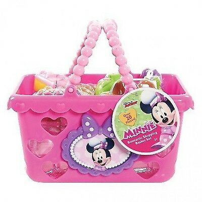Disney Minnie Mouse Basket Shoptastic Grocery Shopping Kids Play Pretend Toys