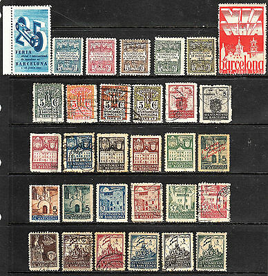 Spain Barcelona Expo Stamps And Poster Stamps