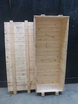 Wooden Long Tall SHIPPING CRATE for Shelves, Transport - Excellent with a LID