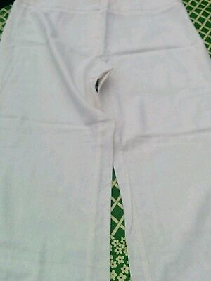 Ladies Marks and Spencer Petite trousers white size 16