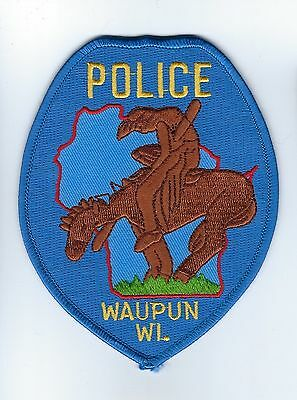 Waupun ( Dodge and Fond du Lac Co.) WI Wisconsin Police Dept. patch - NEW!