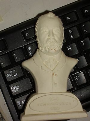 Composer Bust  Figurine,  Tchaikovsky , 5 Inches Tall