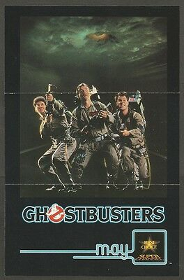 Ghostbusters Original First Choice Super Channel Rogers Cable Flyer