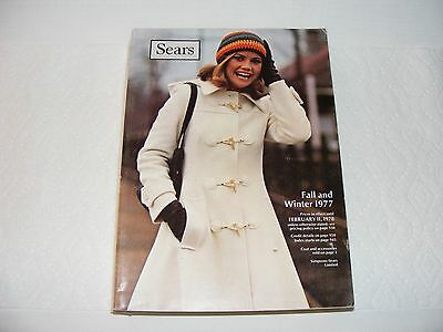Vintage 1977 Sears Department Store Fall & Winter Catalog Canadian Catalogue