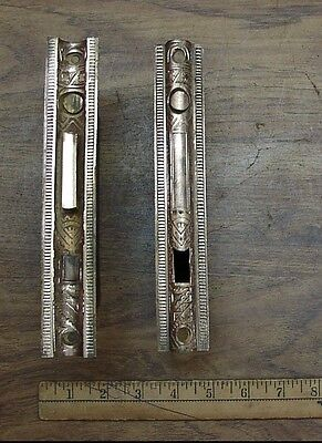 2 Antique P.L.W. Bronze Rim Lock Parts,Restoration Parts & Pieces,Rare Items