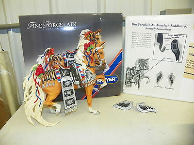 BREYER #79196 All-American Saddlebred in Parade Costume Limited Edition 912/2500