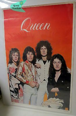Vintage 1976 QUEEN POSTER Freddie Mercury Taylor May Deacon ONE STOP POSTERS
