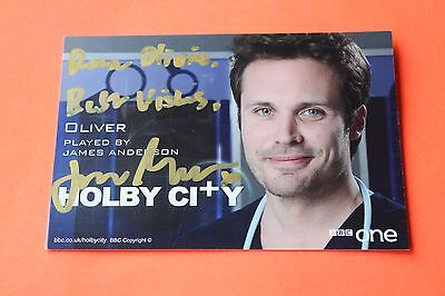 James Anderson (Holby City) Signed Cast Card